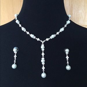 Jewelry - Fashion Pearl & Crystal Evening Set