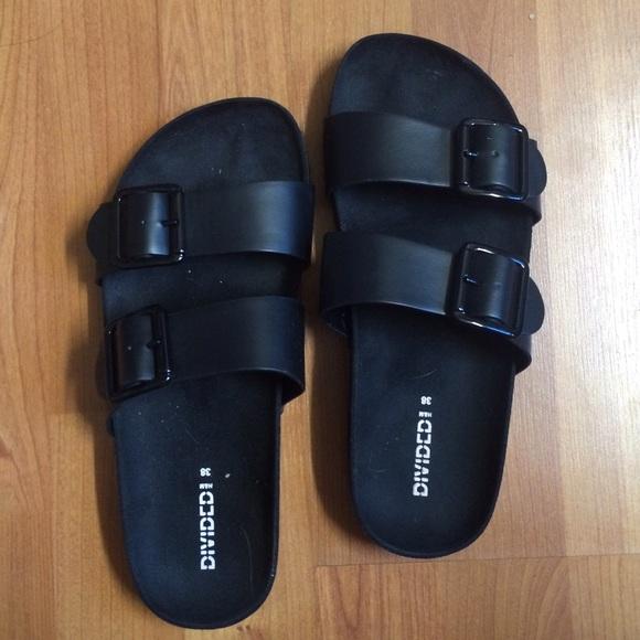5af8ad22a67 Birkenstock Shoes - H M divided black Birkenstock style sandals