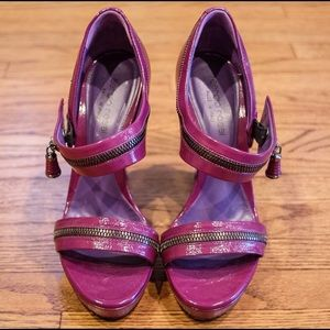 Sergio Rossi Purple Patent Leather Heels Size 36