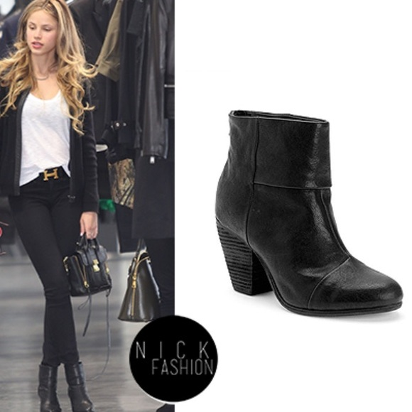 cheap 2015 Rag & Bone Leather Newbury Ankle Boots outlet Inexpensive cheap sale new styles clearance online fake W217yIbWv