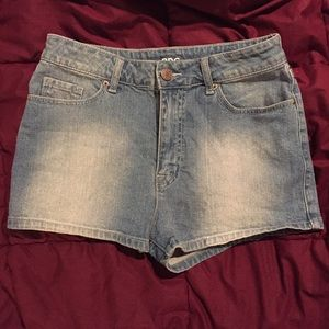 BDG Denim High Waisted Shorts