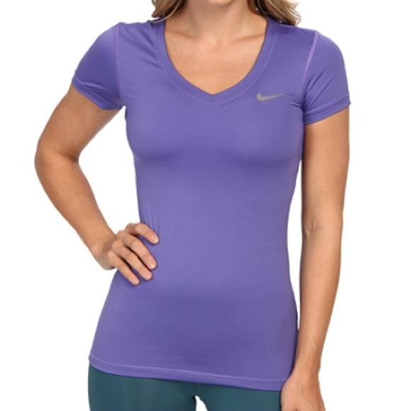 Nike women's pro dri-fit shirt v-neck