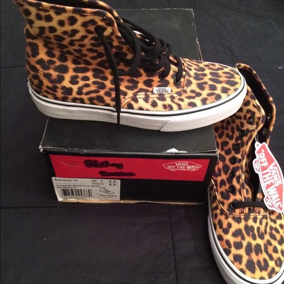 buy \u003e leopard print hi top vans, Up to