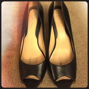 Cole Haan peep toe pump