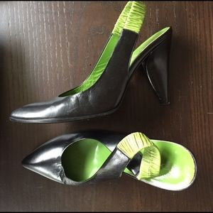 Prada sling back pumps Sz 37