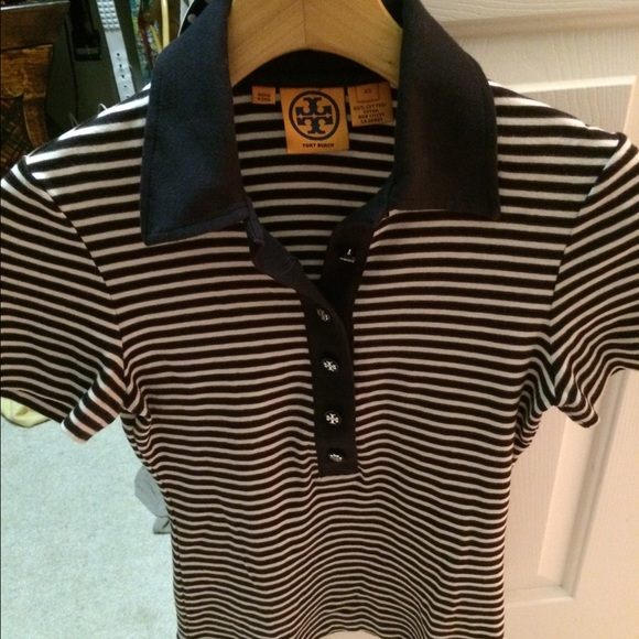 1d511b085fc5 Tory Burch striped polo shirt. M 5589666d93615348ac002e64