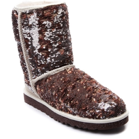 Champagne sequin uggs