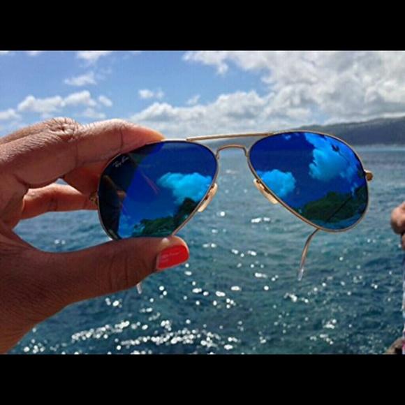 00d817f130 Ray-Ban Aviator Flash Lenses   Blue Flash