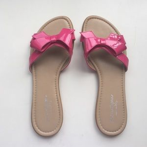 Sotto Sopra Shoes - Pink Bow Sandals