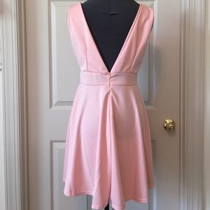 5c43966ae4 Dresses - NWOT Pink plunging neckline skater dress