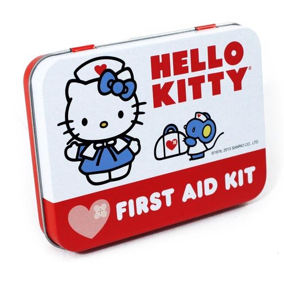 ea5cd02a2 Sanrio Accessories   Hello Kitty First Aid Kit Collectible Tin ...