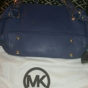 Michael Kors blue Patent Leather Tristan Chain