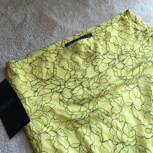 Zara Trafaluc lace midi skirt with slit