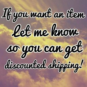 Discounted shipping!