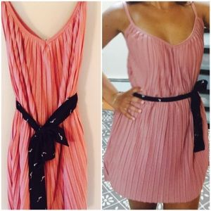 Zara Pale Rose Pleated Mini Dress