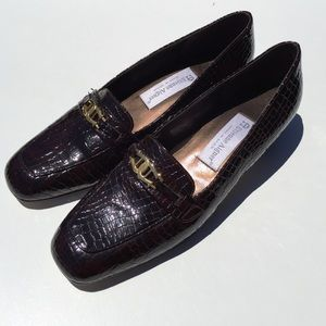 Etienne Aigner Shoes - Etienne Aigner Valentine Leather Croc Loafers 8.5N