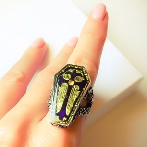 Rare & Retired Gothic Cross Collector's Ring