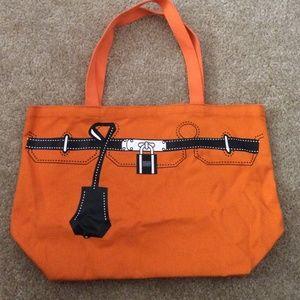 hermes printed canvas bag