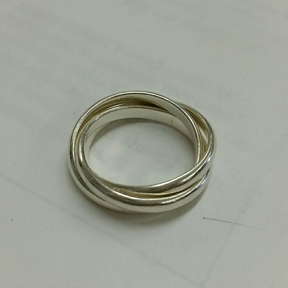 56 jewelry sterling silver interconnected rolling