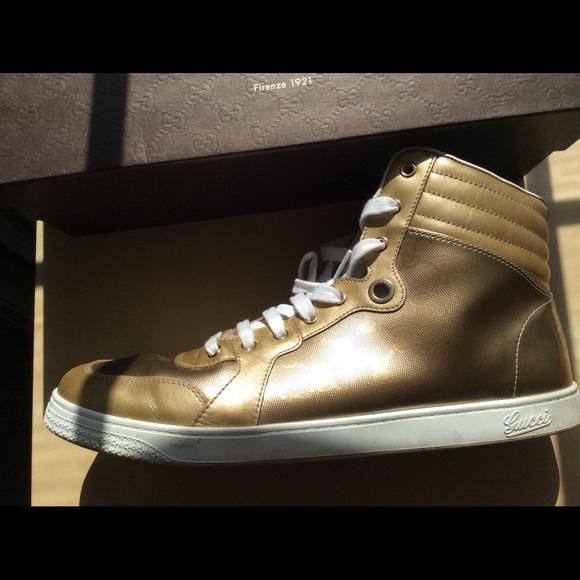 f51d9b004 Men's Gucci Sneakers Hightop - Gold Color - US 12.  M_5589d6f2986c426e61005d58