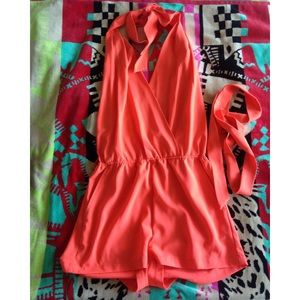 """Hot & Delicious"" Backless Romper"