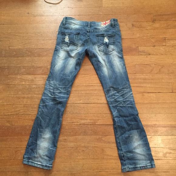 83% off Machine Denim - PRICED TO SELL! Distressed Denim Jeans from Jennieu0026#39;s closet on Poshmark