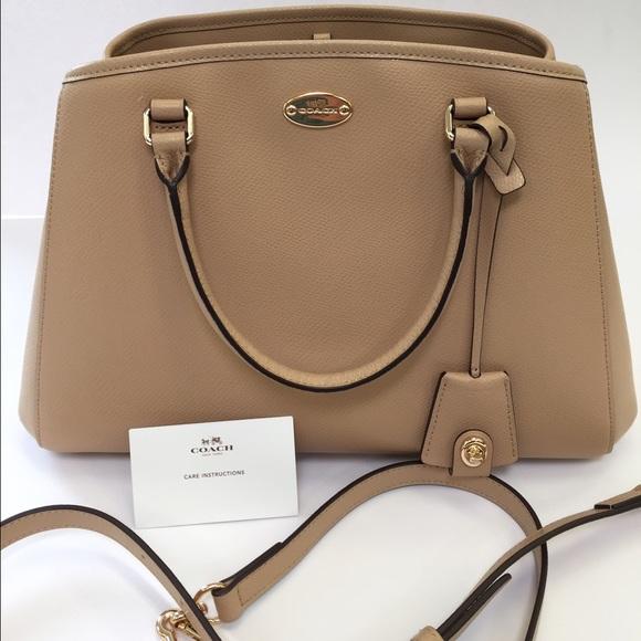 51479c973 Coach Bags | Nwt Nude Small Margot Carryall Satchel Bag | Poshmark
