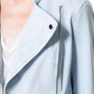 Zara Basic blue jacket with zips