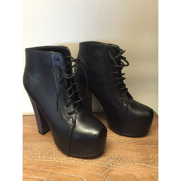 jeffrey campbell jeffrey campbell lita look alike leather booties from maddy 39 s closet on poshmark. Black Bedroom Furniture Sets. Home Design Ideas