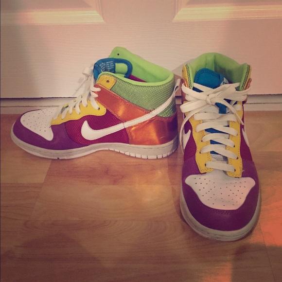 Rare Womens Nike Colorful Hightop