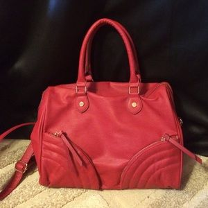 RED STEVE MADDEN satchel!!!