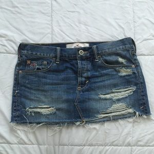 Miss Me Dresses & Skirts - Distressed Jean mini skirt Sz 1.