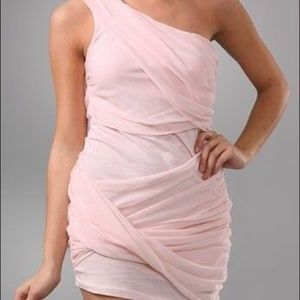 Alice + Olivia Pink Draped Dress