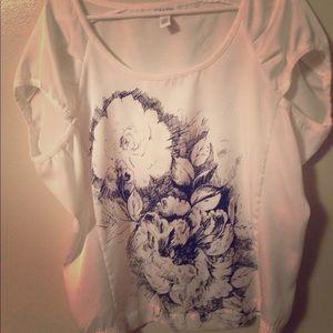 Calvin Klein short sleeve polyester blouse