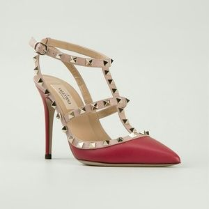 Valentino Shoes - Authentic Red and White Valentino Rockstud Pump 10