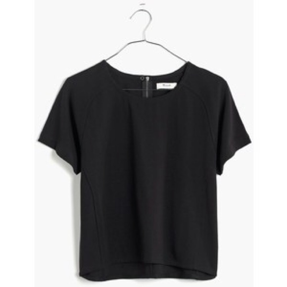 97452556591af5 Madewell Structured Boxy Crop Top Black XS