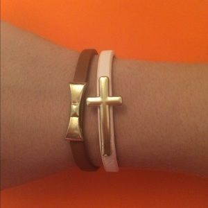 Jewelry - Magnetic Bracelets with cross and bow.