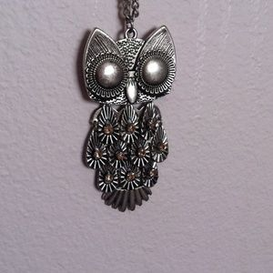 Long Owl Necklace.