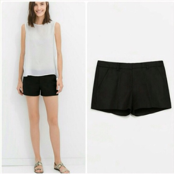 black shorts zara