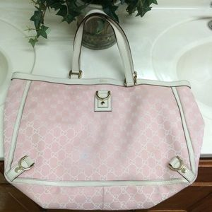 Gucci Abbey D tote bag pink white/GG canvas 141472