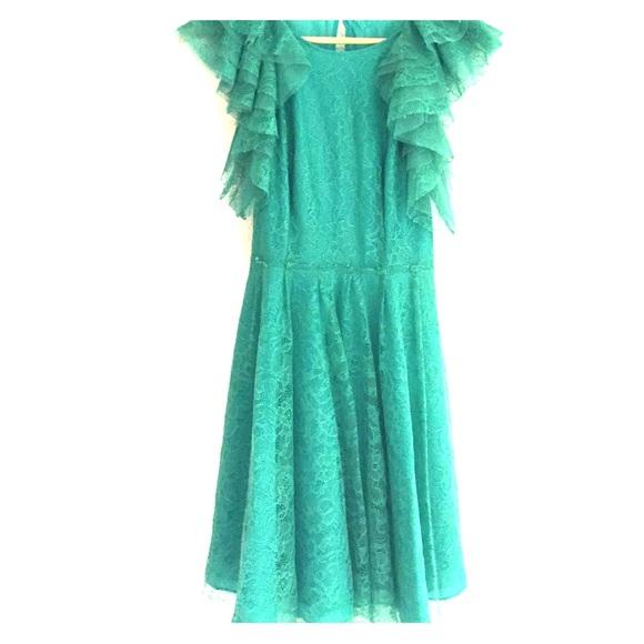 Bcbg Dresses Emerald Spring Semiformal Dress Poshmark