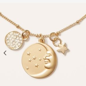 LOFT ||  moon and stars necklace