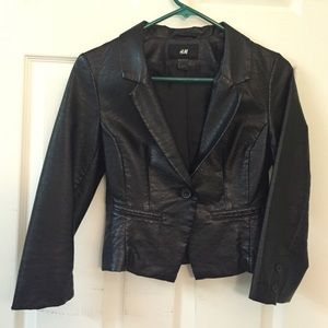 Black pleather blazer