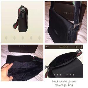 ed359231a74 Gucci Bags - Gucci Black Techno Canvas Messenger Bag