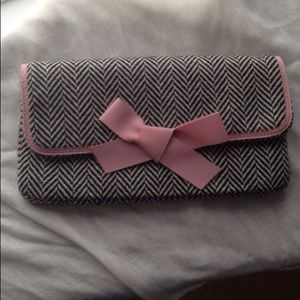Adorable J. Crew herringbone clutch