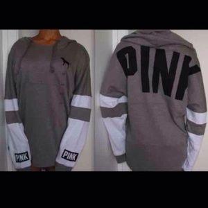 Coral / pink VS  varsity PINK hoodie.