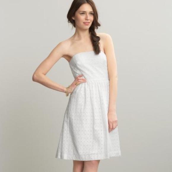 88% off GAP Dresses &amp- Skirts - GAP strapless white eyelet dress ...