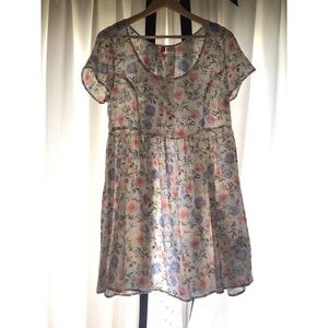 SHEER H&M FLORAL DRESS