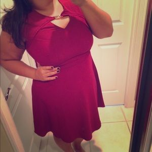 Wine colored dress