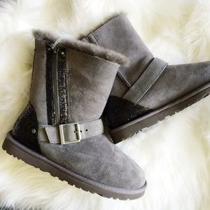 Gray Sequin UGG Boots
